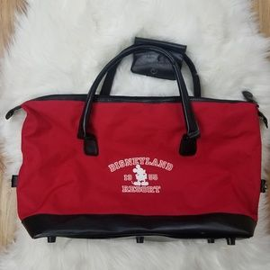 Disney Mickey Tote Hand Bag Red And Black